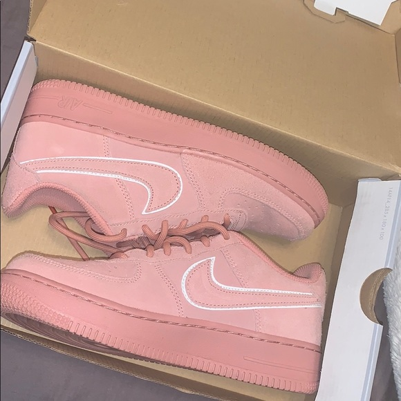 Nike Shoes   Air Forces Pink Suede